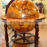 "21.6""/550mm diam antique home bar globe cabinet designs"