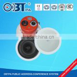 OBT-611 pa system fireproof 40W 8 ohm 100v 8 inch ceiling speaker with selector switcher