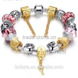 New Stock Fashion Jewelry Alloy Material Glass Beads DIY Bracelet Patterns