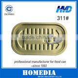 311# Easy Open Lid/Easy Open End/Tinplate EOE/ Can Lid/ Sardines square Can Cover                                                                         Quality Choice