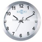 14 inch metal wall mounted clock, decorative wall aluminium round clock