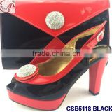 CSB5118 fashion color matching italian style high heel shoes matching bags perfect matching set easy matching for clothes