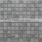 Polished Italy White Carrara Marble Mosaic Tile Picture