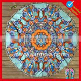 Eco solvent top quality custom print beach towel roundie                                                                                                         Supplier's Choice