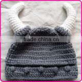 baby boy beanie hat crochet viking hat knit hat free pattern