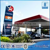High Quality Pole Standing LED Gas Price Screen Double side Aluminum Pylon sign for Gas Station