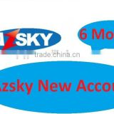 Sell low price for New azsky account for all Azsky G1/AZSKY G1+/AZSKY G2/AZSKY G6/AZSKY G1 Super for 6 months for africa