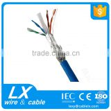 4 pair bare copper STP Cat6 Lan Cable network wire