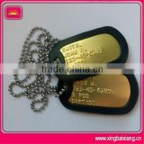 High quality custom 18k gold plating dog tag