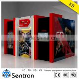 6 Seats 5D Simulator for Amusement Park Electrical Platform 5D Motion Seat