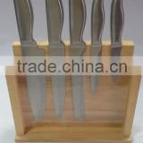 6 sets stainless steel hollow handle kitchen knife set kitchen utensils combination acrylic knife block