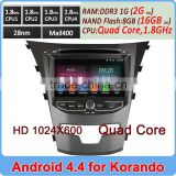 Ownice C200 Quad Core 1.8GHz Pure Android 4.4.2 double din car dvd for ssangyong korando 2014 HD 1024*600