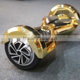 8 inch chrome gold electric kick scooter electric hover board 2 wheels with bluetooth and LED from Coowalk