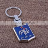 Wholesale New Design Gift Accessories New French Team Logo Keyring For Sportsman