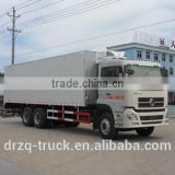 Heavy duty Dongfeng double rear axle 6*4 refrigerator truck box size 9500,8600*2300*2400