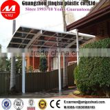 Car Parking Shelters, Modern Design Powder Coated Aluminium Double Carport With polycarbonate Sheet