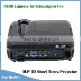 New Arrival School Education Use DLP Link 3D Short Throw Projector HDMI 1.4V Hologram Projector 3d Led