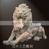 outdoor animal stone carving
