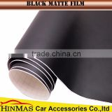 matte customized black self adhesive vinyl for Car vehicle wraps