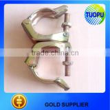 China Construction galvanzied double scaffolding clamp swivel coupler stamped JIS scaffolding clamp coupler for sale