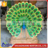 Life size resin peacock sculpture for garden decoration NTRS-089LI