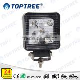 Long Lifespan Square Led Work Light Aluminum Plastic Housing Agricultural Driving Lamp