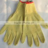 Para aramid high strength cut resistant flame retardant gloves