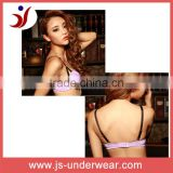 Sexi girls beautiful lingerie bra new fashion design, Ladies purple nylon new style forks strap mature hot sexy bra