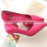 zm50265b stiletto heel pump lady high heel shoes suede hollow out sexy womens single shoe