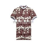 2015 Men's Polo Shirt With floral print
