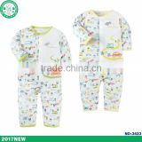 Long sleeve 2 pieces baby clothing set children clothes with OEM Branded for spring