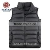 Custom-made cheap unisex foldable warm winter ultralight duck down vest waistcoat for wholesale