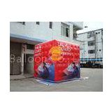 3.5m attractive filled cube balloon with four sides digital printing for Political events