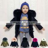 Fashionable kids wear fox fur coat,baby design style fur clothes,2-14yeard fur apparel