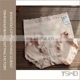 Wholesale ladies fashion soft cotton anti-bacterial lace trim ladies oem panty