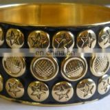 Coin Pattern costume Brass bangle