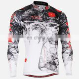 wholesale cycling shirts - Long Sleeve Custom Sublimated Cycling Jersey