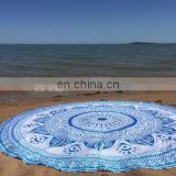 Indian Cotton Table Cloth Beach Throw Hippie Tapestry Boho Yoga Mat Bohemian Ombre Mandala Round Roundie