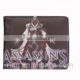 Men's Wallet Assassins Creed Logo Card Wallet Game Fashion Coin Purse Leather Wallet for Men