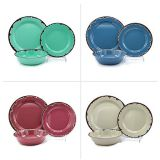Multi color 3pcs retro rust plates customized design dinnerware melamine dinner sets in india