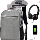Magic Bobby Travel Laptop Anti-theft Backpack with USB Port