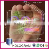 hot sale custom pvc card transparent 3d hologram stickers overlay