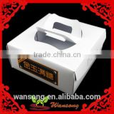 customized white cheap wedding cake boxes,cheese cake box ,food packaging box with handle                                                                         Quality Choice