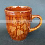 brown ceramic mug, stoneware mug, ceramic mug made in china
