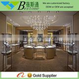 Copper plating jewelry showcase for sale, Jewellery counter design, stainless steel showcase