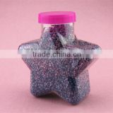 14oz 420ml Star Shape Plastic Candy Jars Wholesale