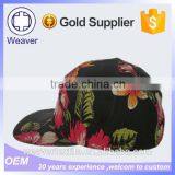 Hot China Products Wholesale Floral Print Pineapple 5 Panel Snapback Camp Cap / Corona 5 Panel Hat