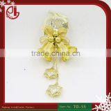 Christmas Tree Hanging Bell With Apple Shape Star Pendant For Door Decoration