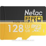 Netac 128G C10/ U3 high speed memory card made in Taiwan