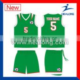 High quality youth team uniform customized design basketball jersey